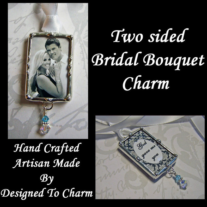 Wedding Bouquet Picture Charm For The Bride Engagement or image 0
