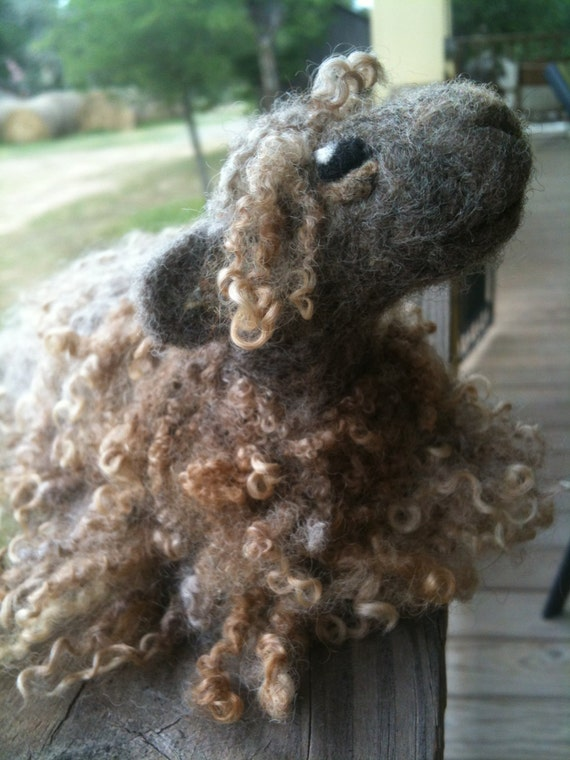 Needle Felted Wistful Sheep Lamb Handmade for Ewe