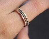 14k Palladium White Gold Gold Chevron Stacking or Wedding Band, Thin Gold Bands, Geometric Stacking Ring