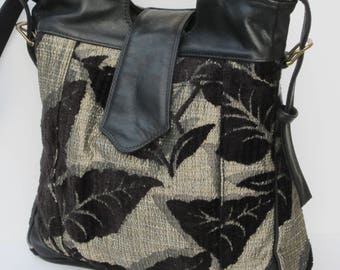LARGE TOTE BAG by Elizabeth Z Mow  Hand and Shoulder  Leaves of Grandeur