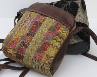 SMALL SHOULDER BAGS Tapestry and Leather Pick One by Elizabeth Z Mow