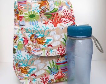 Insulated Lunch Bag Lunch Tote Kawaii Mermaids Under the Sea Ready to Ship