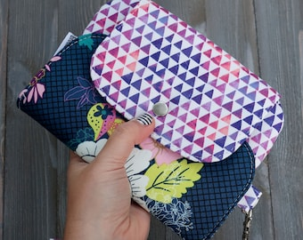 Wallet Wristlet Clutch Large Flowers Ready To ship