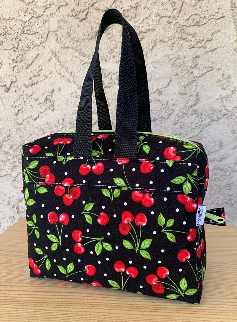 Insulated Lunch Bag Lunch Box Cooler Rectangle Cherries and image 0