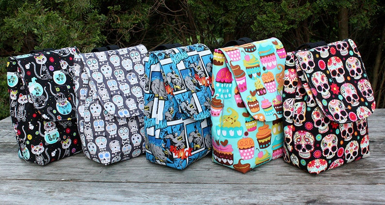 Insulated Lunch Bag Lunch Tote You Pick the Fabric Custom image 0