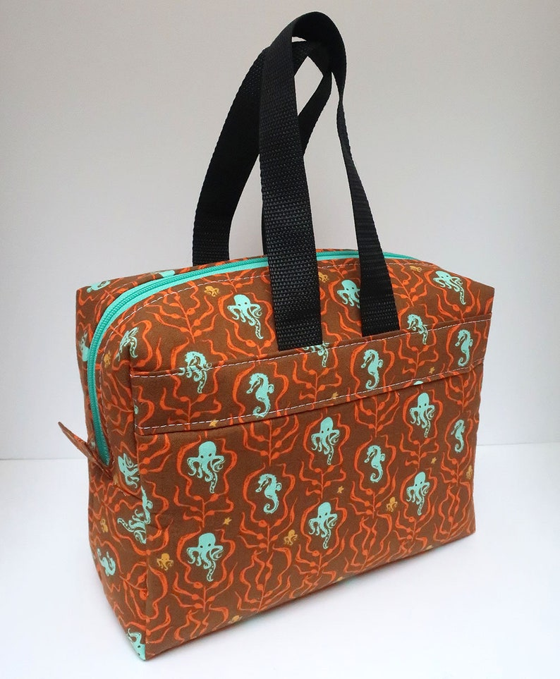 Insulated Lunch Bag Lunch Box Cooler Rectangle Octopus Garden image 0