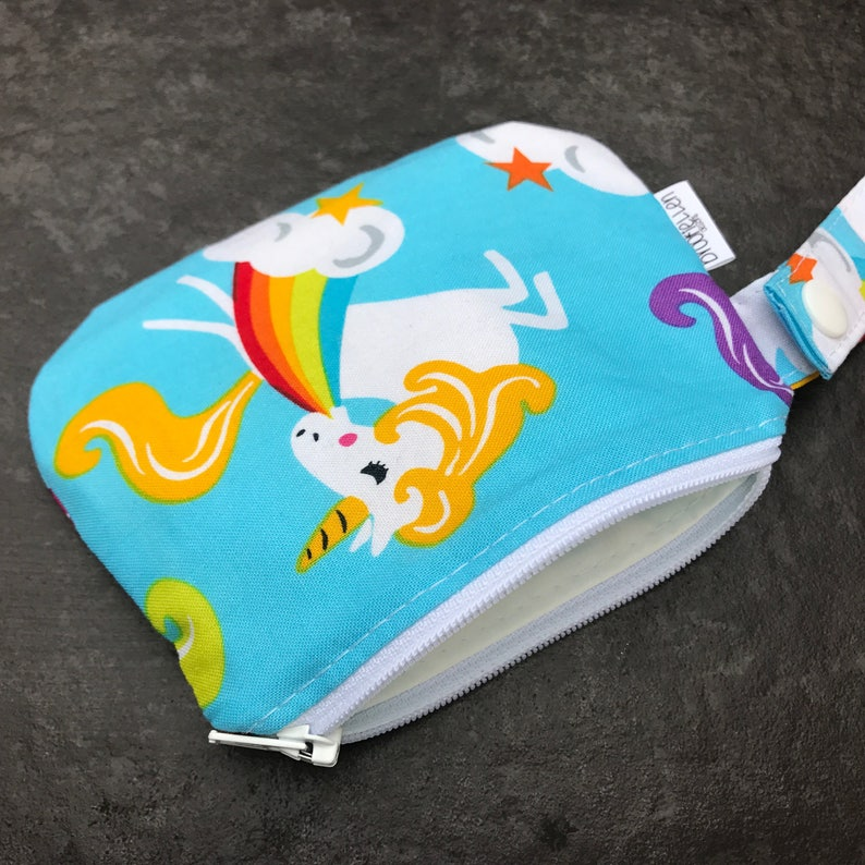 Waterproof Mouth Guard Case Roller Derby Unicorns Zipper image 0