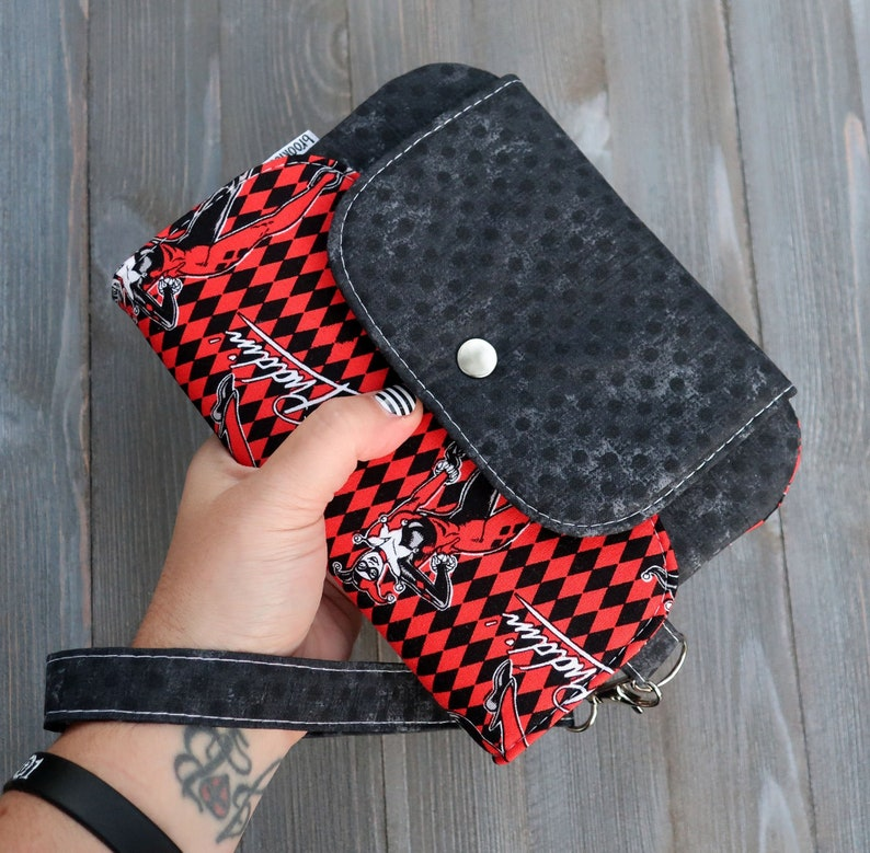 Wallet Wristlet Clutch Large Harley Quinn Ready To ship image 0