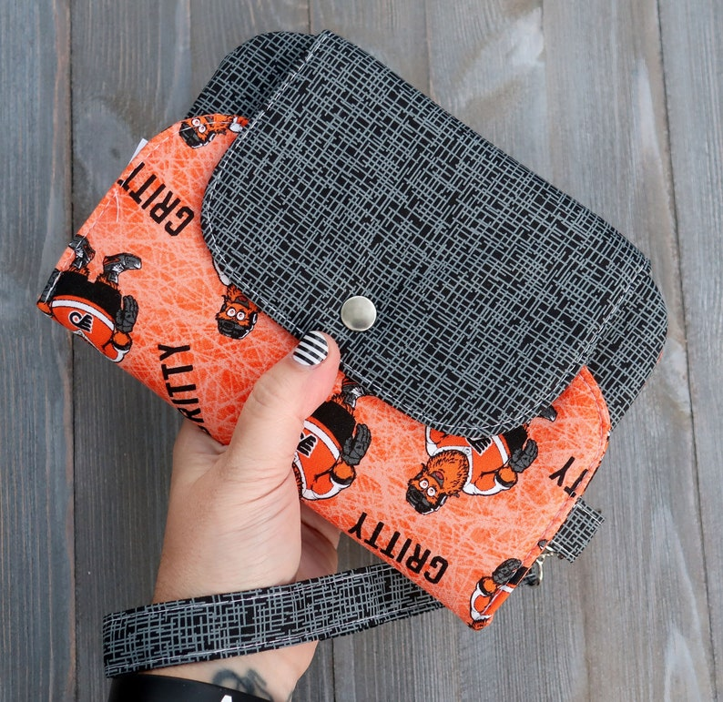 Wallet Wristlet Clutch Large Gritty Ready To ship image 0