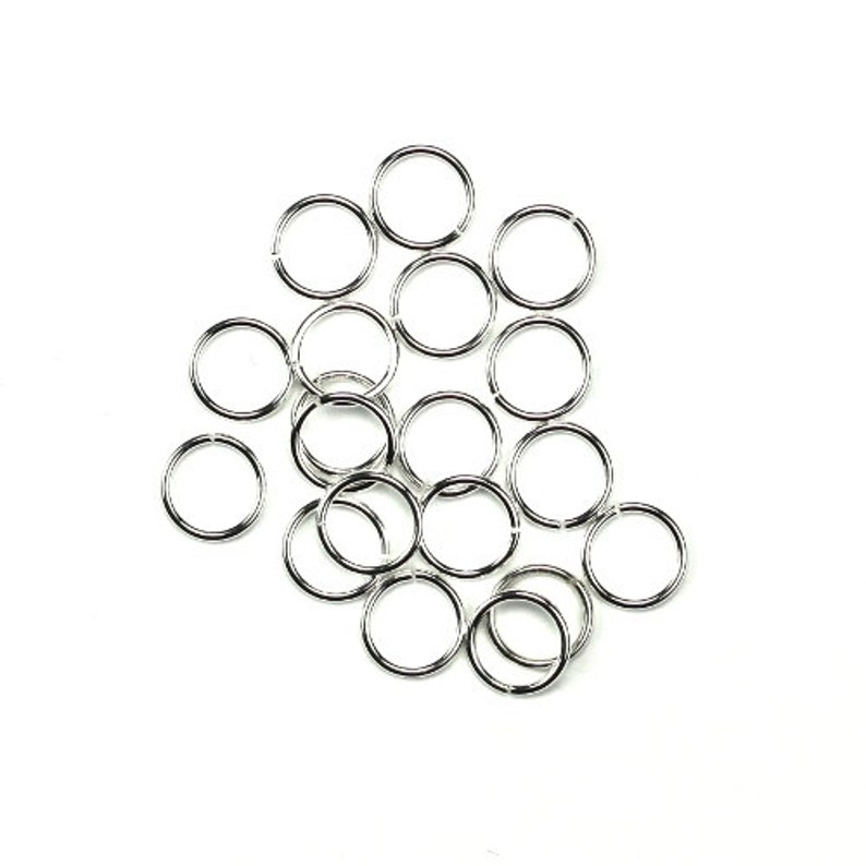 Sterling Silver Jump Rings Open Round 6mm 22 Gauge 10 FI606 image 0