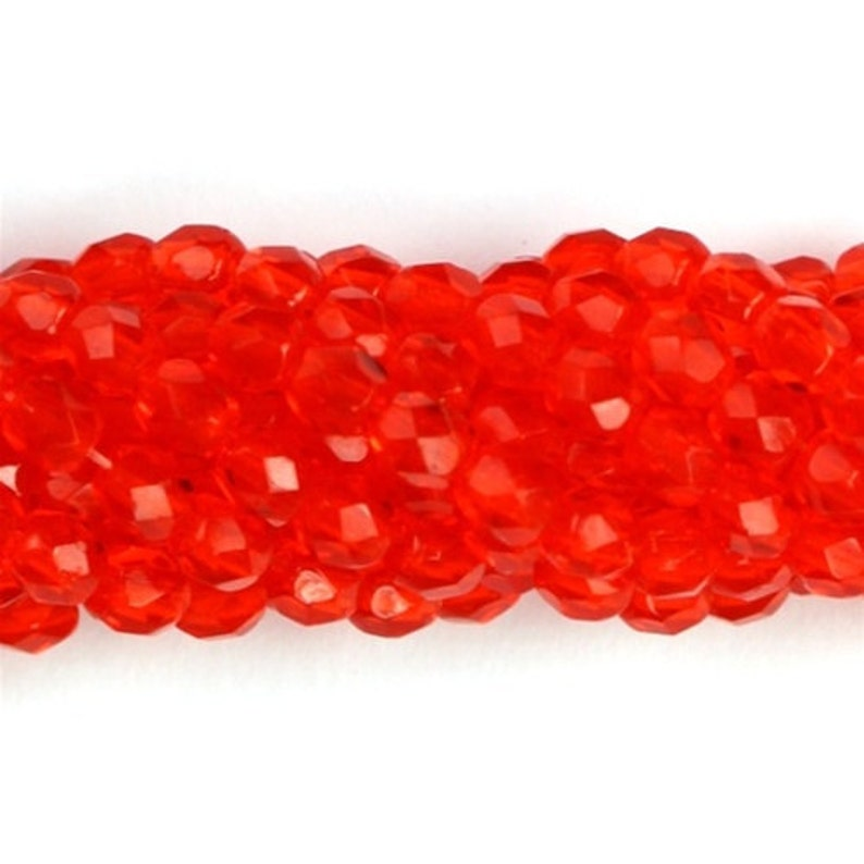 Czech Glass Beads Fire Polished Faceted Rounds 3mm Hyacinth image 0