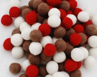 2 cm couleurs pastel 100/% Laine Felt Balls 25 comte-Assortiment de lumière pâle