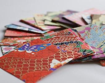 Japanese Finest Yuzen Washi Origami Paper - 200 Sheets Assortment - Approx 6cm x 6cm