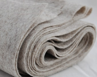100% Pure Wool Felt Fabric - 1mm Thick - Made in Western Europe - Natural Beige