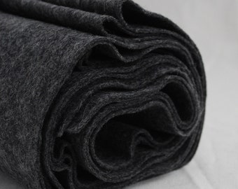 100% Pure Wool Felt Fabric - 1mm Thick - Made in Western Europe - Natural Dark Grey