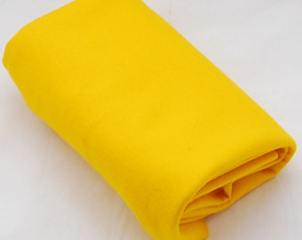 100% Pure Wool Felt Fabric - 1mm Thick - Made in Western Europe - Mustard Yellow