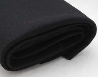 100% Pure Wool Felt Fabric - 1mm Thick - Made in Western Europe - Black