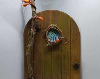 Whimsical Fairy Door-Pumpkin Tree