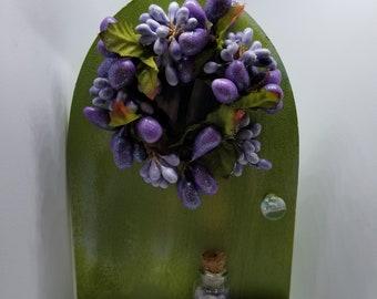 Whimsical Fairy Door-Purple Wreath