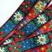 twicks2 reviewed EDELWEISS & HEARTS Jacquard trim White, Blue, red, green, yellow on black. Red edges. Sold by the yard. 1 inch wide. 949(2)-A Bavarian trim