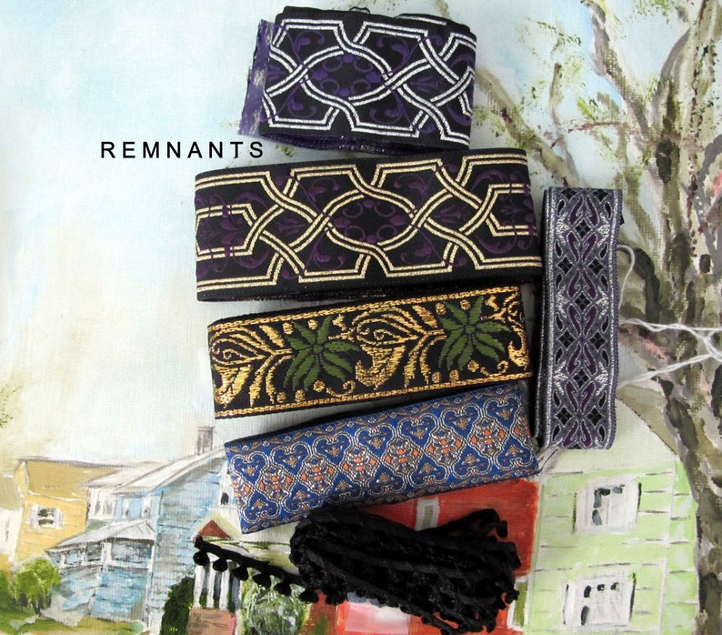 REMNANT MIX no 65 Brocade Jacquard trim Remnants. Suleiman image 0