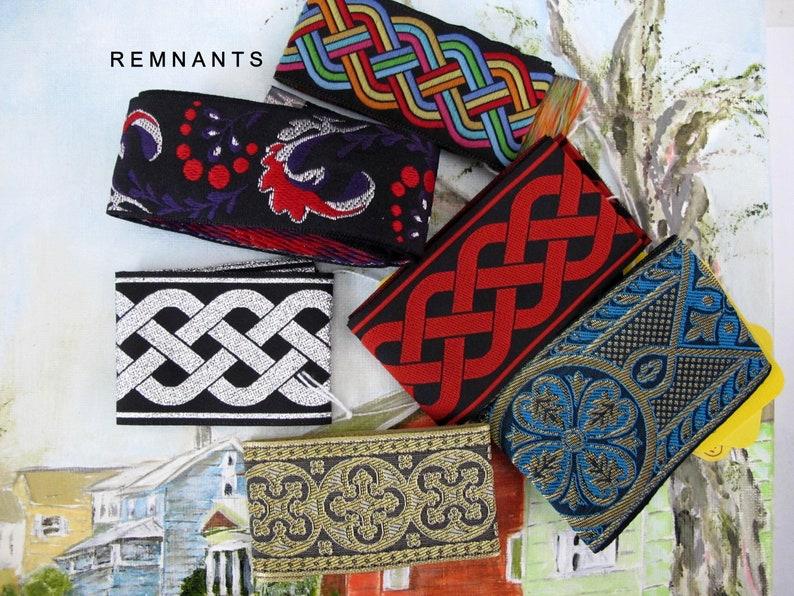 REMNANT MIX no 67 Short remnants Jacquard trims. Byzantine image 0