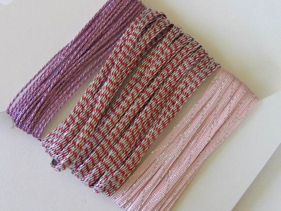1 x Lilac Silky Nylon 25m x 1mm Kumihimo Macrame Rattail Skein HA03955
