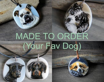 Custom Dog/Cat Necklace - fused glass pendant - dog jewelry- puppy