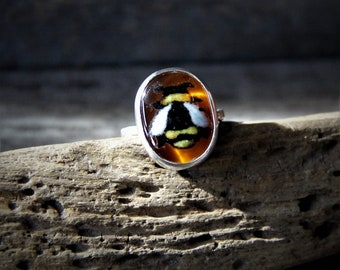 Little bumble bee - Sterling silver ring - Unique jewelry gift - boho jewelry - gypsy ring