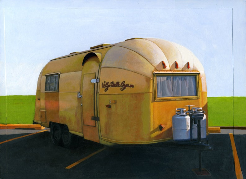 Airstream Gold  12 x 16 limited edition archival print 85/100 image 0