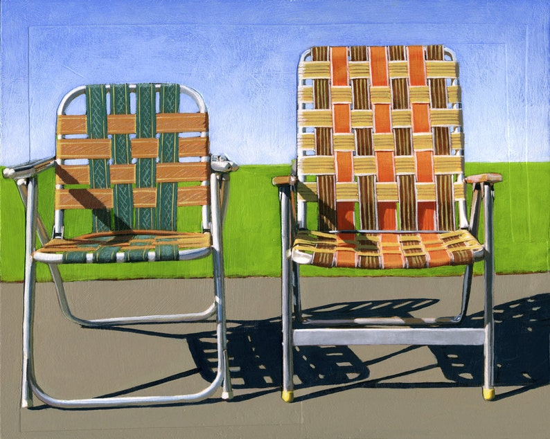 Summer Chairs orange  limited edition giclee print 90/100  image 0