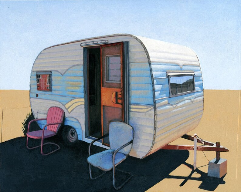 Desert Camper two  limited edition archival print 52/100 image 0