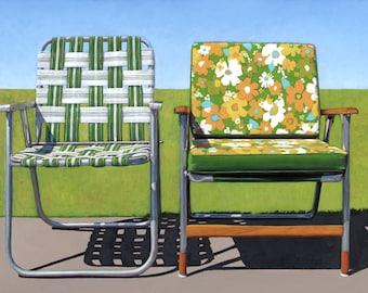 Garden Chairs - 17 x 22 archival print #8/100