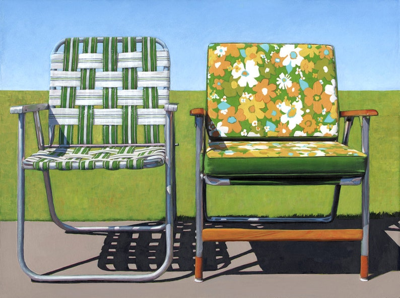 Garden Chairs  17 x 22 archival print 4/100 image 0