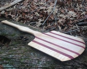 Curly Maple and Purpleheart Pizza Peel