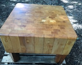 Vintage Restored Antique Butcher Block Monarch Meat Block