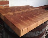 Large Red Maple End Grain Butcher Block