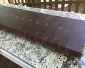 Walnut End Grain - Straight Bookmatch, Flowing Bookmath, Brick Pattern, Straight Seam