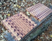 Chefs Maple and Purpleheart End Grain Board