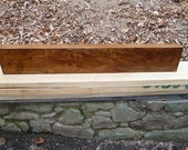 Rustic Quartersawn Spalted Sycamore Mantel Shelf