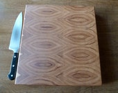 Flowing Bookmatch-Hickory End Grain Chopping Board