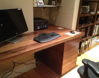Custom Walnut Computer Desk