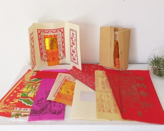 Joss Paper Assortment Pack Chinese Joss Ritual Paper Scrapbook Decorative Paper Asian Boho Decor Asian Tissue Paper Colorful Afterlife Paper