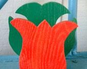 Red Tulip Napkin Holder