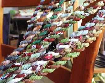 Brown & Green Rope Garland Christmas Tree Decoration Garland 6 ft Garland Mantel Decor Xmas Primitive Rustic Woodland Christmas Decor