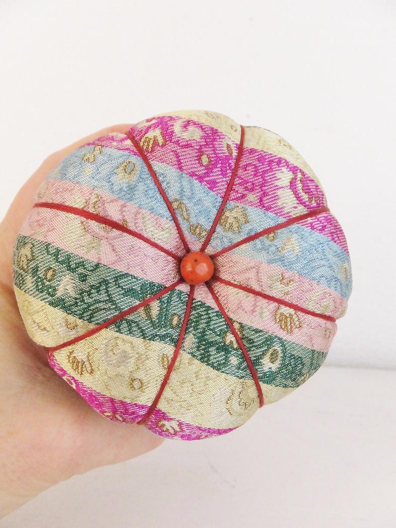 Ornate Vintage Teacup Pincushion Maximalist Decor Brocade Damask Southwest Decor Gift Mom Sewing Tea Cup Pin Cushion Maximalism Pincushion