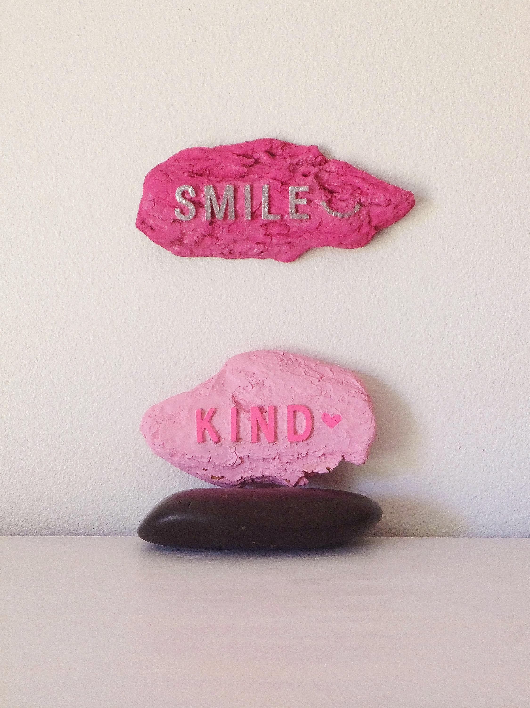 Smile Kind Wall Sculpture Sign Kind Sign Etsy
