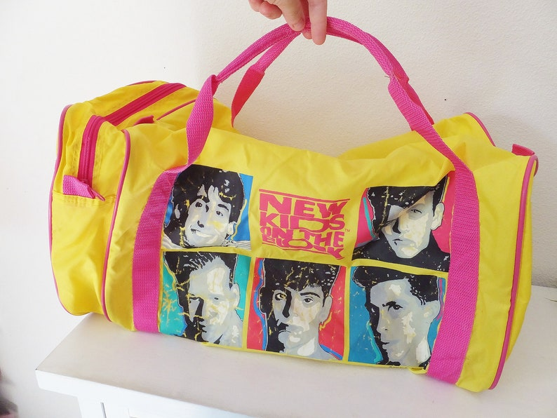 New Kids on the Block Duffel Bag Vintage 1990 s Weekend  f3edf0ed9b9ed