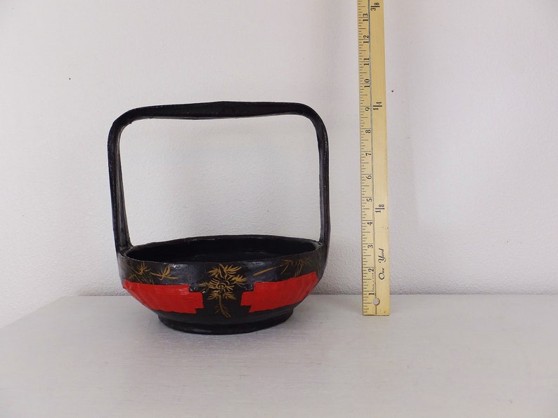 Unusual Antique Red Glass With Handle Bohemian Long Life And Happiness