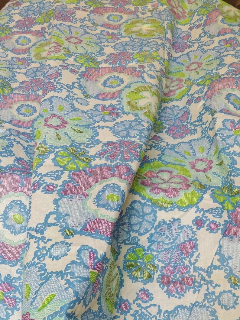 e3b0bc1570 Vintage 1950's Organdie Fabric Thin Stiff Cotton Fabric | Etsy